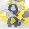 Yellow & Grey Elephant baby shower gift tags. Favor tag, baby boy, gender reveal