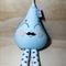 Blue Raindrop rattle Mustache