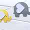 Bright Yellow and Grey Elephant Banner. Birthday party, baby shower, new baby.