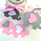 Pink and Grey Elephant baby shower gift tags. Favor tag, baby boy, gender reveal