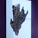Sydney 2000. Superb, laser cut larger wall decoration in MDF & coloured acrylic.