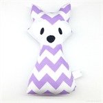 Purple Chevron Fox Rattle