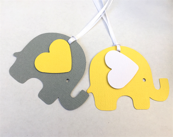 ... Yellow U0026 Grey Elephant Baby Shower Gift Tags. Favor Tag, Baby Boy, Baby  ...