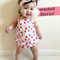 Scented Strawberry Baby Girl Romper & headband - newborn, girl, red, Summer