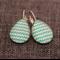 Turquoise Chevron Arrow~ Teardrop Lever Back Earrings