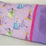 Magical Princesses Pillowcase ~ Mauve / Pink