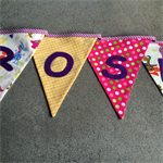 Bunting for children to create a unique & personal space for the bedroom.