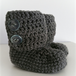 Grey Woolen Little Boots