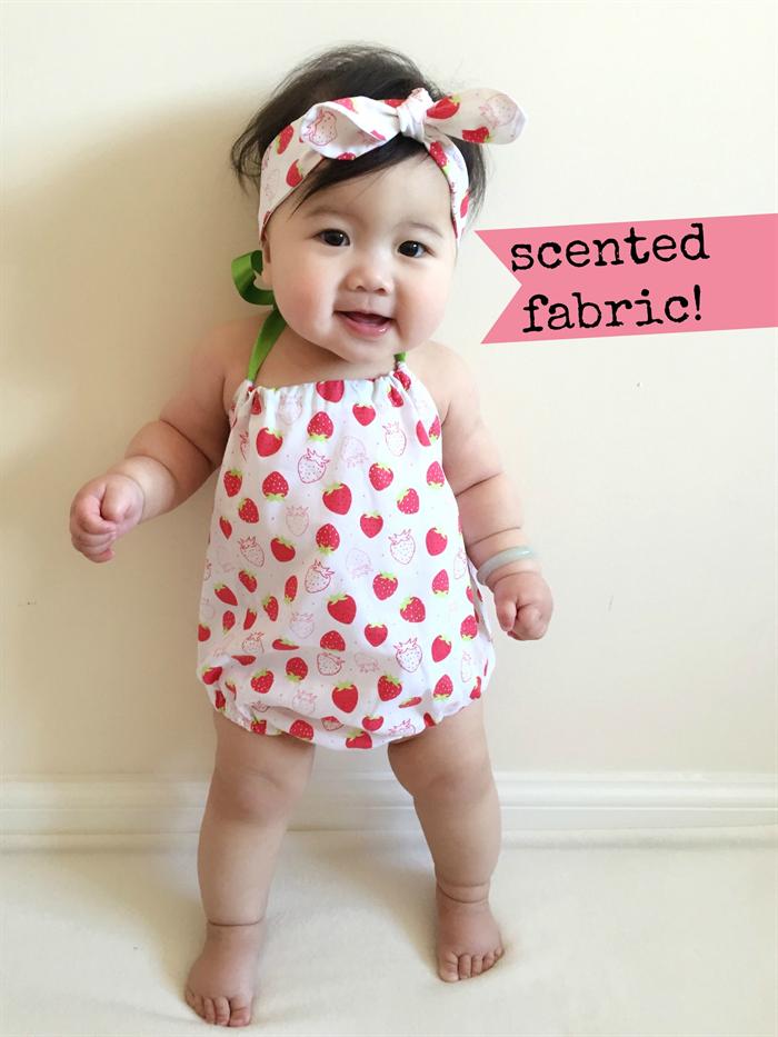 Scented Strawberry Baby Girl Romper   headband - newborn 46163b8f111