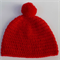 baby crochet beanie | red with pom pom | baby shower gift | newborn - 6 months