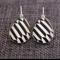 Black White Arrow ~ Teardrop Lever Back Earrings