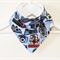 Vintage Camera Print Bandana Dribble Bib with Double Layered Backing