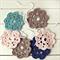 ruby | flower garland | crochet bunting nursery decoration