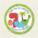 Dinosaur Dino Birthday Stickers 12 x 60mm