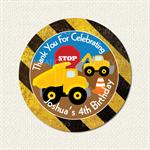 Construction Truck Birthday Stickers 12 x 60mm