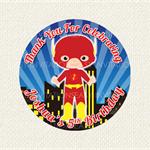 Mixed Hero Birthday Stickers Boy 12 x 60mm SuperHero