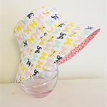 Girls hats in sweet butterfly pattern