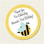 Bumble Bee Birthday Sticker 12 x 60mm