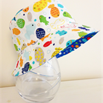 Baby/Boys summer hat in funky fish fabric