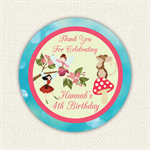 Enchanted Fairy Woodland Birthday Stickers 12 x 60mm