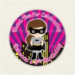 Mixed Hero Girl Birthday Stickers Superhero 12 x 60mm