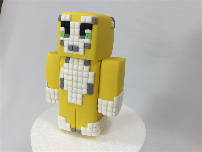 Minecraft 3 D Edible Sugar Cake Topper The Patatopatch Madeitcomau