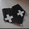 Organic Adjustable Baby Bandana Bib with Bamboo Fleece - White Arrows on Black