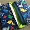Baby or toddler funky nappy wallet. Custom made to create a unique item for you.