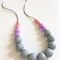 Washable Gumball Silicone Bead Necklace - Pastel Love, Blush