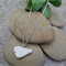 SEA BREEZE STERLING SILVER & FOUND BEACH POTTERY NECKLACE