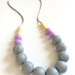 Washable Gumball Silicone Bead Necklace - Pastel Love, Apple