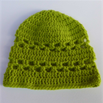 crochet baby beanie | apple green | baby shower gift | newborn - 3+ months