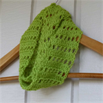 crochet infinity scarf | unisex | apple green baby shower gift 3 months - 2+ yrs