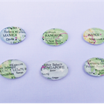 South East Asia Map Fridge Magnet Set Glass Atlas Book Singapore Thailand