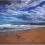 Cronulla, Oil Painting, Before the Storm, Artwork, Unframed