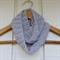 crochet infinity scarf | modern grey | baby shower gift 3 months - 2+ yrs