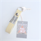Custom Order for Starry Raston:  Lemon & Silver Carey Two Tone Keyfob