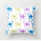 Bright Pastels Butterflies White Background Cushions Cover