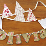 OLIVIA...handmade name bunting for a very special unique gift...
