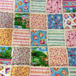 Cot Size Ragged Quilt