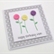 PERSONALISED - 3 Button Flowers Birthday Card