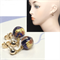 Blue Abstract Venetian Murano Stud earrings