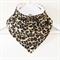 Stylish Leopard Print Bandana Dribble Bib with Double Layered Backing
