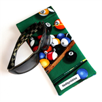 Padded Sunglasses Pouch in Pool Table Fabric