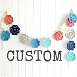 custom flower garland - pink white grey charcoal