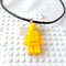 LEGO ROCKS - Resin Lego man pendant hand cast in yellow