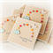 Personalised Baby card baby boy or girl rainbow buttons blue cloud