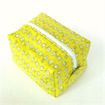 Boxy Toiletry Bag // Makeup Zipper Pouch in Lemon Bike