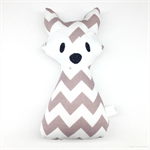 Grey Chevron Fox Rattle