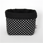 Fabric Storage / Gift Basket - Black Spot